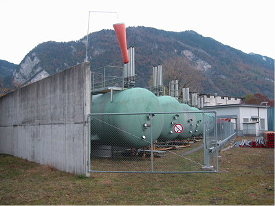 LPG (propane) storage tanks